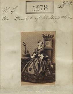 Elizabeth Wellesley (née Hay), Duchess of Wellington, by Camille Silvy - NPG Ax53315