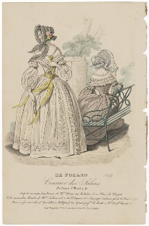 Carriage costume, October 1839, published by Dobbs & Co, published in  The Court Magazine and Monthly Critic and Lady's Magazine and Museum - NPG D47766