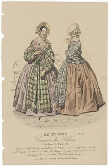 Carriage costume, November 1839, published by Dobbs & Co, published in  The Court Magazine and Monthly Critic and Lady's Magazine and Museum - NPG D47768
