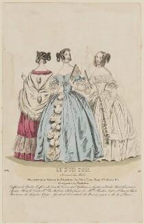 Paris ball dress, 1839, published in Le Bon Ton, Journal des Modes, republished in  Blackwood's Lady's Magazine and Gazette of the Fashionable World - NPG D47773