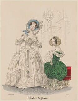 'Modes de Paris', 15 January 1839, probably by Hippolyte Damours, published in  Petit Courrier des Dames, Journal des Modes - NPG D47777