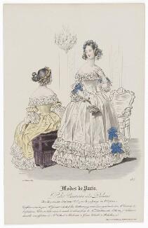 'Modes de Paris', 10 February 1839, by Hippolyte Damours, published by  S. & J. Fuller, first published in  Petit Courrier des Dames, Journal des Modes - NPG D47780