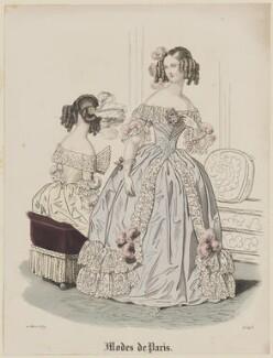 'Modes de Paris', 10 March 1839, probably by Hippolyte Damours, published in  Petit Courrier des Dames, Journal des Modes - NPG D47786