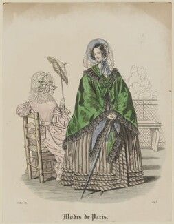 'Modes de Paris', 15 May 1839, probably by Hippolyte Damours, published in  Petit Courrier des Dames, Journal des Modes - NPG D47795