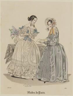 'Modes de Paris', 10 May 1839, probably by Hippolyte Damours, published in  Petit Courrier des Dames, Journal des Modes - NPG D47796