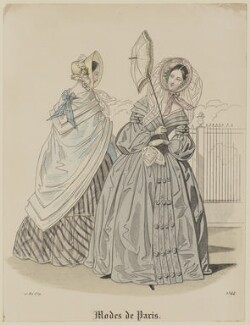 'Modes de Paris', 20 May 1839, probably by Hippolyte Damours, probably published by  S. & J. Fuller, first published in  Petit Courrier des Dames, Journal des Modes - NPG D47797