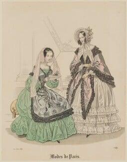 'Modes de Paris', 10 June 1839, probably by Hippolyte Damours, probably published by  S. & J. Fuller, first published in  Petit Courrier des Dames, Journal des Modes - NPG D47801