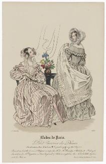 'Modes de Paris', 15 June 1839, probably by Hippolyte Damours, published by  S. & J. Fuller, first published in  Petit Courrier des Dames, Journal des Modes - NPG D47805