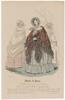 'Modes de Paris', 25 June 1839, probably by Hippolyte Damours, published by  S. & J. Fuller, first published in  Petit Courrier des Dames, Journal des Modes - NPG D47806