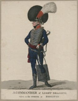 Sir James Affleck, Bt ('A Commander of Light Dragoons, taken on the Steyne at Brighton'), by and published by Robert Dighton - NPG D47129
