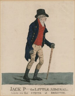 John Willett Payne ('Jack P- the Little Admiral. taken on the Steyne at Brighton'), by and published by Robert Dighton - NPG D47134