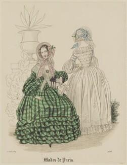 'Modes de Paris', 15 July 1839, probably by Hippolyte Damours, probably published by  S. & J. Fuller, first published in  Petit Courrier des Dames, Journal des Modes - NPG D47808