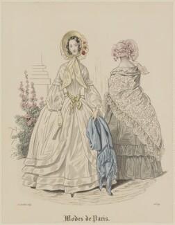 'Modes de Paris', 15 July 1839, probably by Hippolyte Damours, probably published by  S. & J. Fuller, first published in  Petit Courrier des Dames, Journal des Modes - NPG D47809