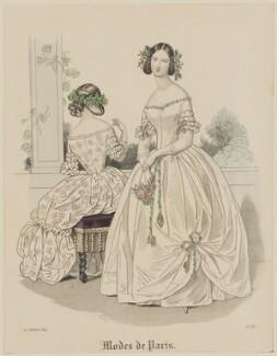 'Modes de Paris', 10 July 1839, probably by Hippolyte Damours, probably published by  S. & J. Fuller, first published in  Petit Courrier des Dames, Journal des Modes - NPG D47811