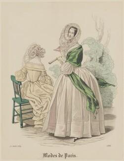 'Modes de Paris', 25 July 1839, probably by Hippolyte Damours, probably published by  S. & J. Fuller, first published in  Petit Courrier des Dames, Journal des Modes - NPG D47813
