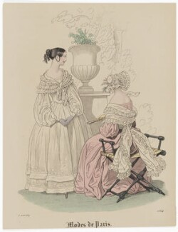 'Modes de Paris', 5 August 1839, probably by Hippolyte Damours, probably published by  S. & J. Fuller, first published in  Petit Courrier des Dames, Journal des Modes - NPG D47814
