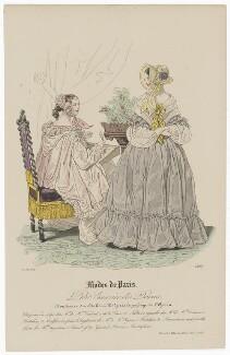 'Modes de Paris', 15 August 1839, probably by Hippolyte Damours, published by  S. & J. Fuller, first published in  Petit Courrier des Dames, Journal des Modes - NPG D47816