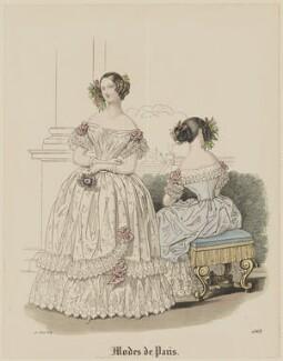 'Modes de Paris', 20 August 1839, probably by Hippolyte Damours, probably published by  S. & J. Fuller, first published in  Petit Courrier des Dames, Journal des Modes - NPG D47817