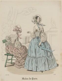 'Modes de Paris', 15 August 1839, probably by Hippolyte Damours, probably published by  S. & J. Fuller, first published in  Petit Courrier des Dames, Journal des Modes - NPG D47820
