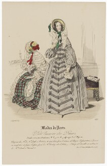 'Modes de Paris', 15 September 1839, probably by Hippolyte Damours, published by  S. & J. Fuller, first published in  Petit Courrier des Dames, Journal des Modes - NPG D47823