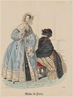'Modes de Paris', 20 October 1839, probably by Hippolyte Damours, probably published by  S. & J. Fuller, first published in  Petit Courrier des Dames, Journal des Modes - NPG D47826