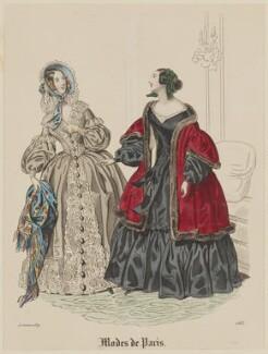 'Modes de Paris', 15 October 1839, by Hippolyte Damours, probably published by  S. & J. Fuller, first published in  Petit Courrier des Dames, Journal des Modes - NPG D47827