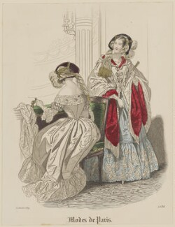 'Modes de Paris', 31 October 1839, probably by Hippolyte Damours, probably published by  S. & J. Fuller, first published in  Petit Courrier des Dames, Journal des Modes - NPG D47829