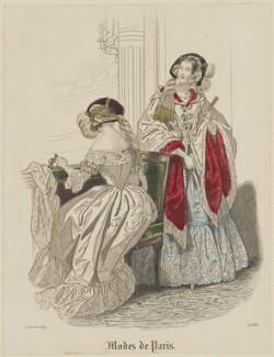 'Modes de Paris', 31 October 1839, probably by Hippolyte Damours, probably published by  S. & J. Fuller, first published in  Petit Courrier des Dames, Journal des Modes - NPG D47829