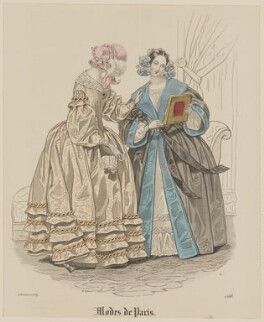 'Modes de Paris', 5 November 1839, probably by Hippolyte Damours, probably published by  S. & J. Fuller, first published in  Petit Courrier des Dames, Journal des Modes - NPG D47831