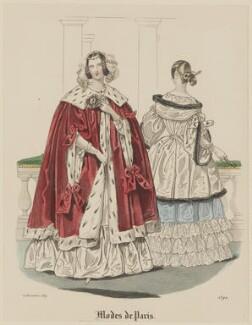 'Modes de Paris', 20 November 1839, probably by Hippolyte Damours, probably published by  S. & J. Fuller, first published in  Petit Courrier des Dames, Journal des Modes - NPG D47832