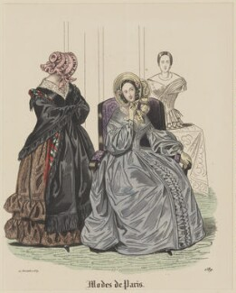 'Modes de Paris', 10 November 1839, by Hippolyte Damours, probably published by  S. & J. Fuller, first published in  Petit Courrier des Dames, Journal des Modes - NPG D47834