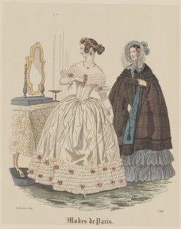 'Modes de Paris', 30 November 1839, probably by Hippolyte Damours, probably published by  S. & J. Fuller, first published in  Petit Courrier des Dames, Journal des Modes - NPG D47835