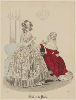 'Modes de Paris', 20 December 1839, probably by Hippolyte Damours, probably published by  S. & J. Fuller, first published in  Petit Courrier des Dames, Journal des Modes - NPG D47837