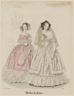 'Modes de Paris', 15 December 1839, probably by Hippolyte Damours, probably published by  S. & J. Fuller, first published in  Petit Courrier des Dames, Journal des Modes - NPG D47838