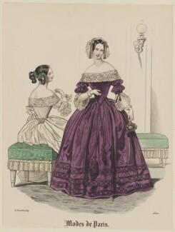 'Modes de Paris', 31 December 1839, probably by Hippolyte Damours, probably published by  S. & J. Fuller, first published in  Petit Courrier des Dames, Journal des Modes - NPG D47839