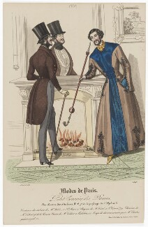 'Modes de Paris', 28 February 1839. L'habit de ville et robe de chambre, probably by Hippolyte Damours, published by  S. & J. Fuller, first published in  Petit Courrier des Dames, Journal des Modes - NPG D47840