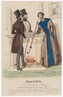 'Modes de Paris', 28 February 1839. L'habit de ville et robe de chambre, probably by Hippolyte Damours, published by  S. & J. Fuller, first published in  Petit Courrier des Dames, Journal des Modes - NPG D47840