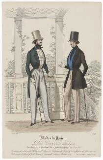 'Modes de Paris', 31 May 1839, probably by Hippolyte Damours, published by  S. & J. Fuller, first published in  Petit Courrier des Dames, Journal des Modes - NPG D47843
