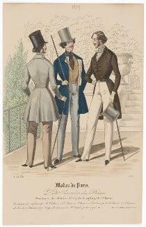 'Modes de Paris', 30 June 1839, probably by Hippolyte Damours, published by  S. & J. Fuller, first published in  Petit Courrier des Dames, Journal des Modes - NPG D47844