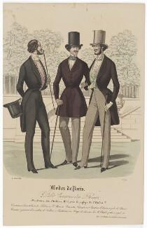 'Modes de Paris', 31 August 1839, probably by Hippolyte Damours, published by  S. & J. Fuller, first published in  Petit Courrier des Dames, Journal des Modes - NPG D47846