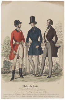 'Modes de Paris', 30 September 1839, probably by Hippolyte Damours, published by  S. & J. Fuller, first published in  Petit Courrier des Dames, Journal des Modes - NPG D47847