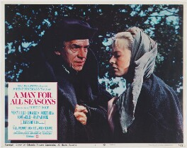 A Man for All Seasons lobby card 1 (Paul Scofield as Sir Thomas More; Susannah York as Margaret Roper), published by Columbia Pictures Corporation - NPG D48102