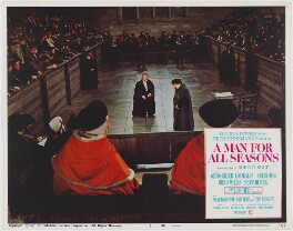 A Man for All Seasons lobby card 2 (Paul Scofield as Sir Thomas More; Leo McKern as Thomas Cromwell, Earl of Essex), published by Columbia Pictures Corporation - NPG D48103
