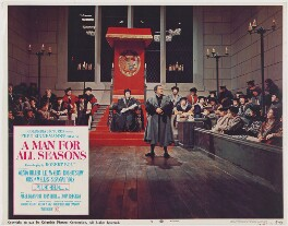 A Man for All Seasons lobby card 4 (Leo McKern as Thomas Cromwell, Earl of Essex), published by Columbia Pictures Corporation - NPG D48105
