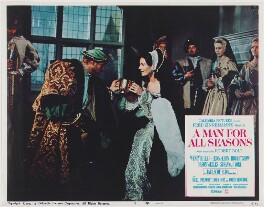 A Man for All Seasons lobby card 5 (Robert Shaw as King Henry VIII; Vanessa Redgrave as Anne Boleyn), published by Columbia Pictures Corporation - NPG D48106
