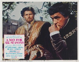 A Man for All Seasons lobby card 7 (Robert Shaw as King Henry VIII; Paul Scofield as Sir Thomas More), published by Columbia Pictures Corporation - NPG D48108