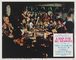 A Man for All Seasons lobby card 8 (Robert Shaw as King Henry VIII; Vanessa Redgrave as Anne Boleyn), published by Columbia Pictures Corporation - NPG D48109