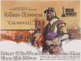 'Cromwell' (Dame Dorothy Tutin as Henrietta Maria; Sir Alec Guinness as King Charles I; Richard Harris as Oliver Cromwell), by Eric William Pulford, and  Arnaldo Putzu, printed by  Lonsdale & Bartholomew (Nottingham) Ltd, published by  National Screen Service Ltd - NPG D48110