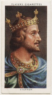 King Stephen, published by John Player & Sons, after  George Vertue - NPG D48114