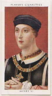 King Henry VI, published by John Player & Sons, after  Unknown artist - NPG D48125